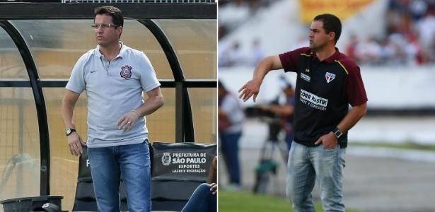 Loss e Jardine são fundamentais para a adaptação dos jovens no profissional - Rodrigo Gazzanel/Agência Corinthians e Diego Nigro/Estadão Conteúdo