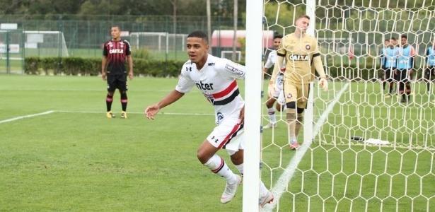 Atacante jogará pelo sub-23 para ganhar ritmo de jogo e já deixou sua marca na estreia - Afonso Pastore/saopaulofc.net