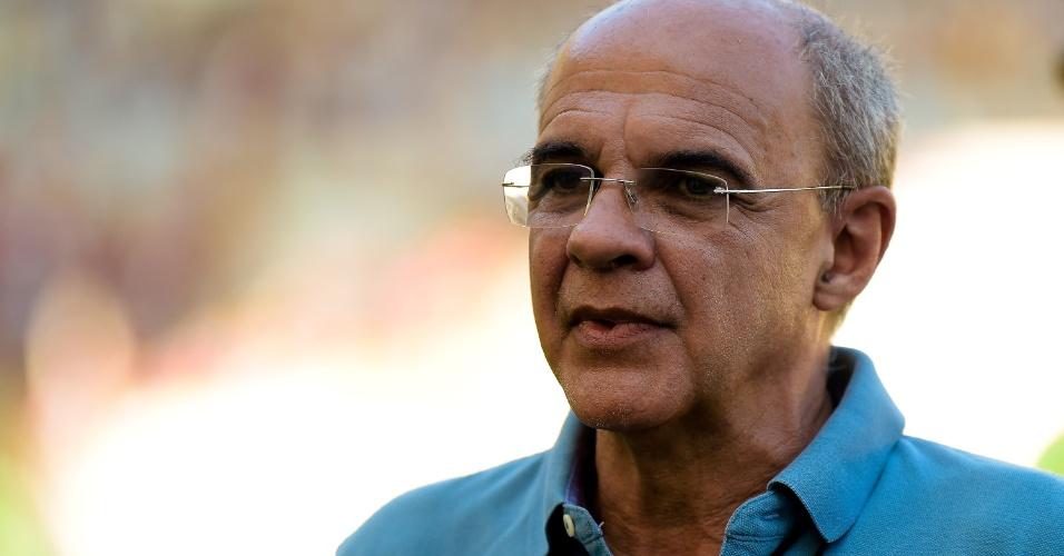 Eduardo Bandeira de Mello, presidente do Flamengo, comparece a jogo do Brasileirão
