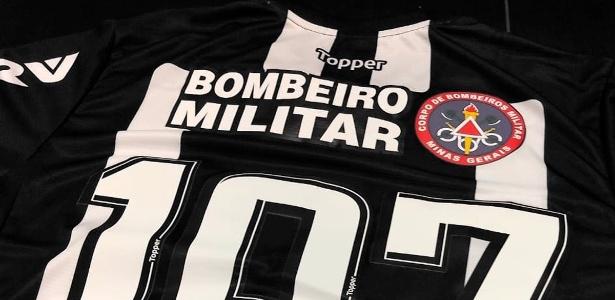 Uniforme do Atlético-MG para jogo contra o Guarani-MG com logo dos Bombeiros - Divulgação/Atlético-MG