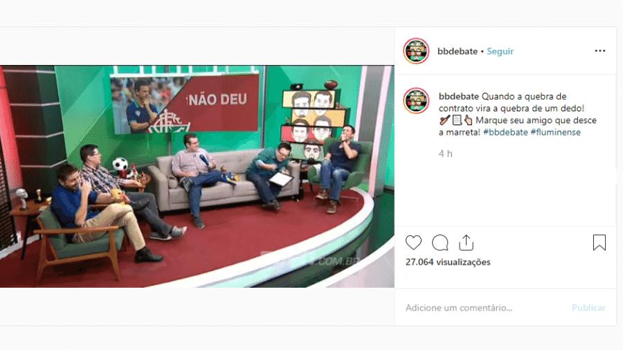 """Rômulo Mendonça """"causa"""" no BB Debate, da ESPN - Reprodução/ESPN Brasil"""