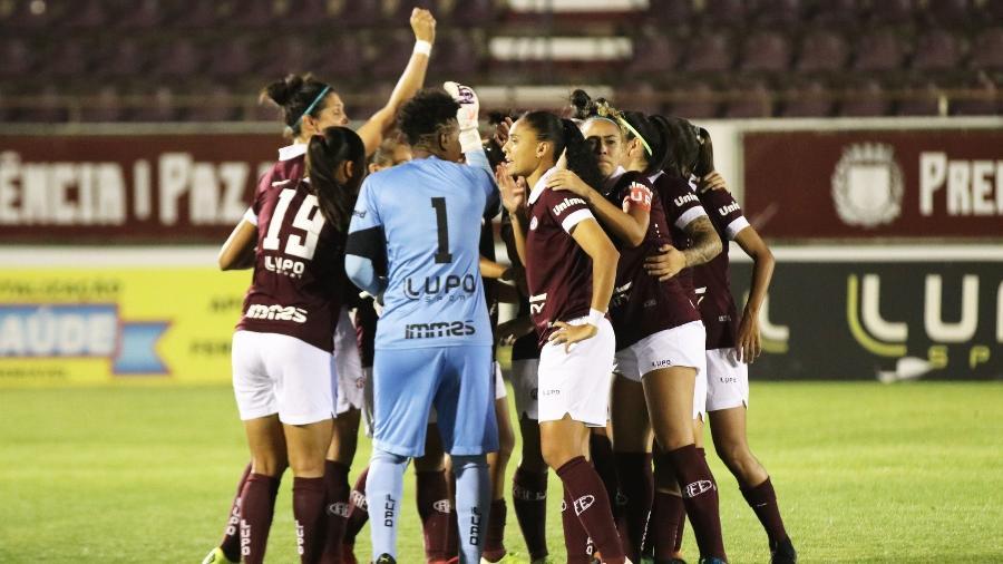Jogadoras da Ferroviária em partida do Campeonato Paulista - Felipe Blanco/Ferroviária SA