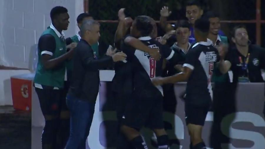 Vasco ficou no empate em 1 a 1 com a Jacuipense pela segunda rodada da Copinha - Reprodução/SporTV
