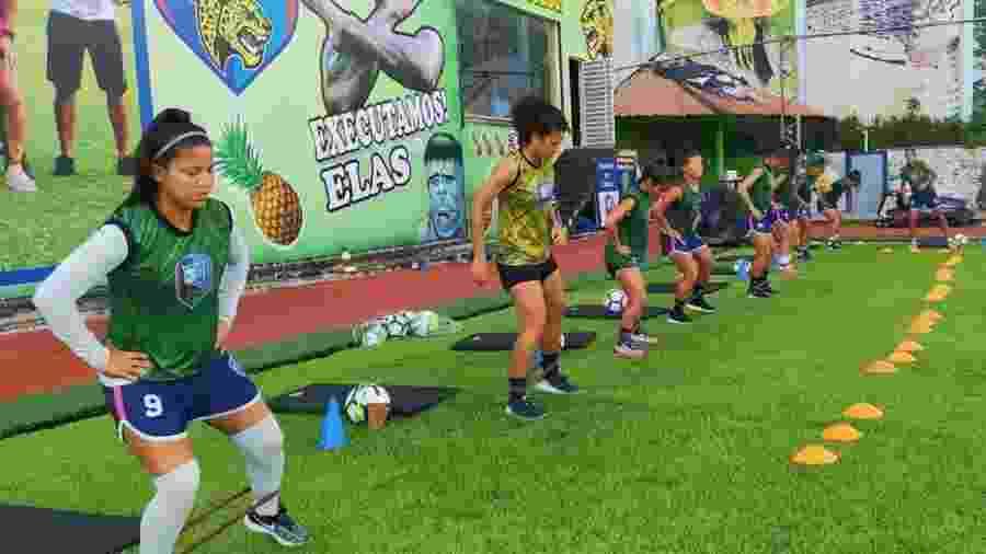Jogadoras do 3B Sport realizam treinamento - Divulgação/3B Sport