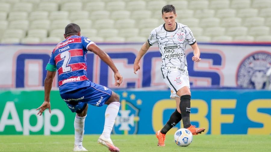 Clubes buscam alternativas para as arquibancadas vazias como as da partida entre Fortaleza e Corinthians no Castelão - Rodrigo coca / Ag. Corinthians