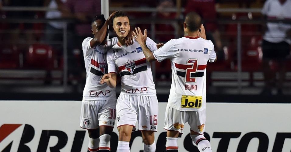 João Schmidt marcou o terceiro gol do São Paulo contra o Trujillanos pela Libertadores da América