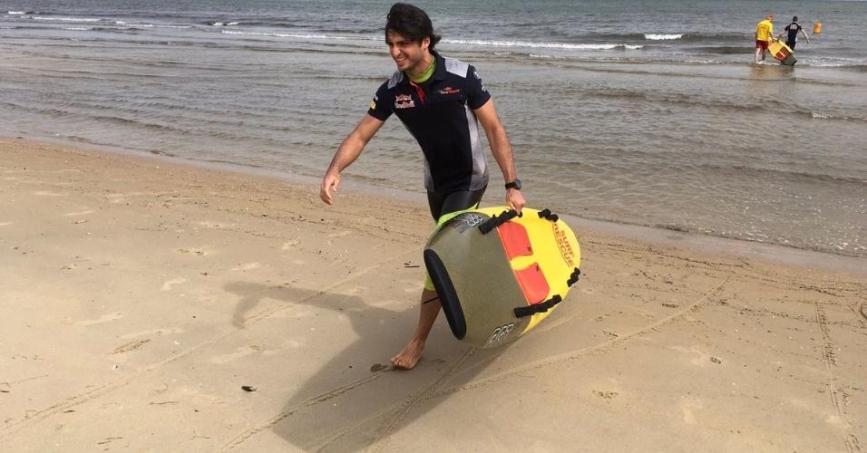 Carlos Sainz participa de evento antes do GP da Austrália