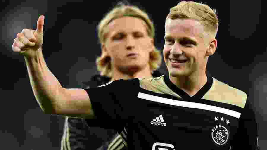Com 23 anos, Van de Beek já possui mais de 170 partidas pelo Ajax e nove pela seleção holandesa - Dylan Martínez/Reuters