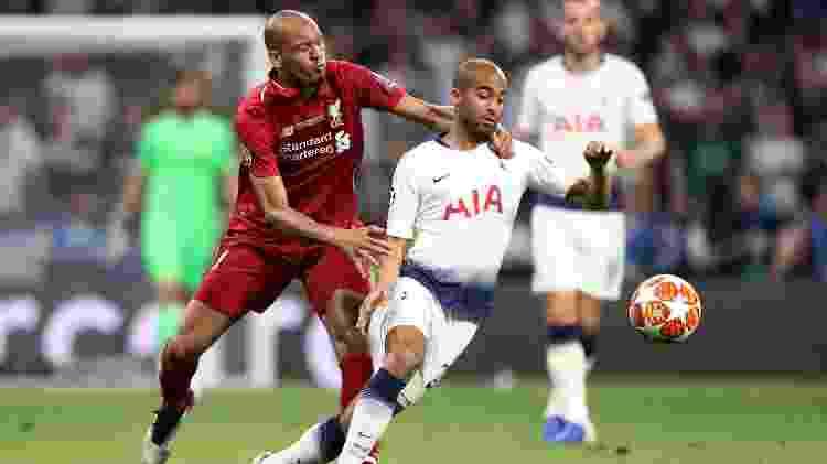 Fabinho em ação pelo Liverpool - Carl Recine/Reuters