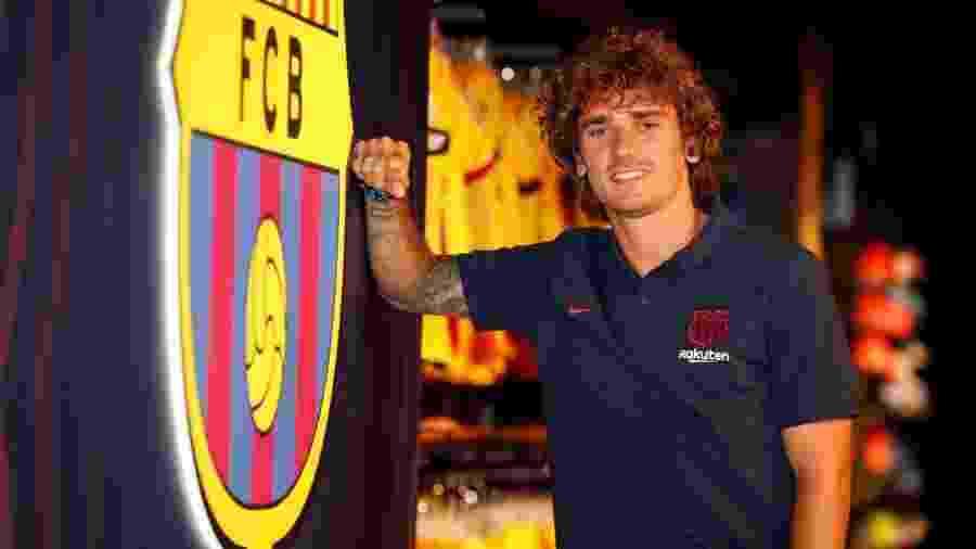 Antoine Griezmann era jogador do Atlético de Madri antes de assinar com o Barça - divulgação/Barcelona
