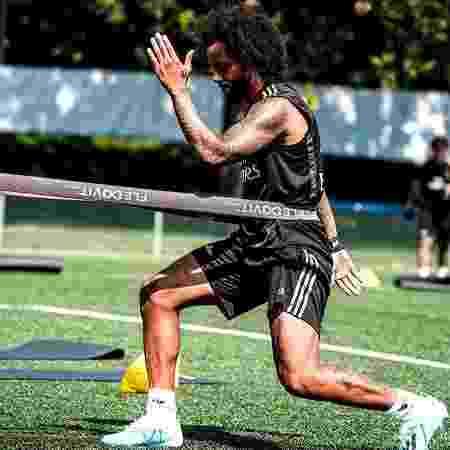 Marcelo durante treino do Real Madrid - Reprodução/Instagram