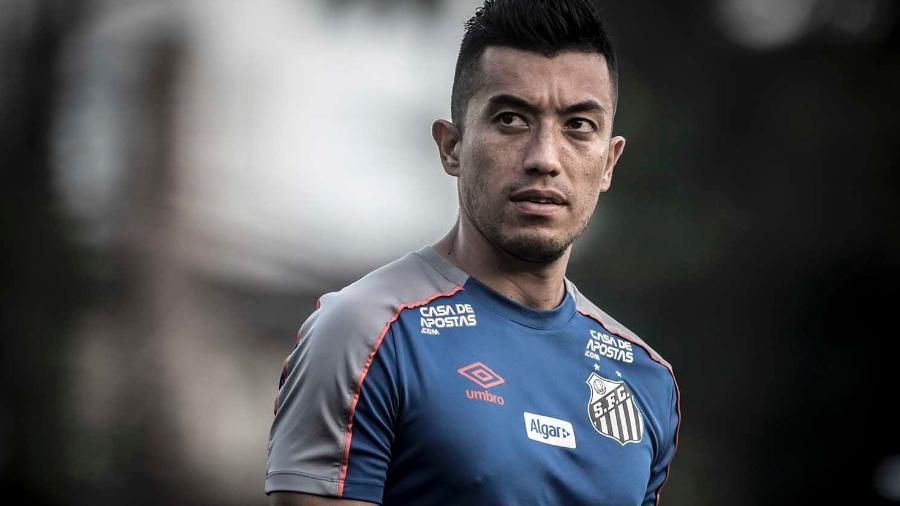 Fernando Uribe, centroavante do Santos, pode deixar o clube paulista ainda nesta temporada - Ivan Storti/Santos FC