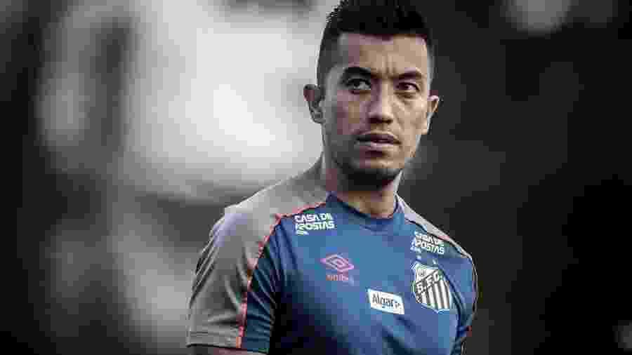 Fernando Uribe, centroavante do Santos - Ivan Storti/Santos FC