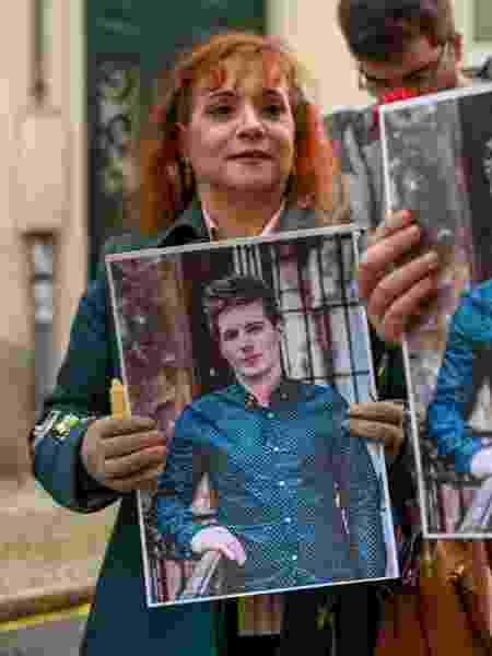 Manifestação de apoio a Rui Pinto, o hacker português que seria responsável pelo Football Leaks, realizada em 29 de janeiro de 2020 na cidade de Lisboa - Horacio Villalobos#Corbis/Corbis via Getty Images