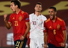 Espanha supera Suíça por 1 a 0 e se mantém líder de grupo na Liga das Nações - Gabriel Bouys/AFP