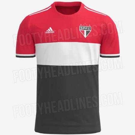 Suposto novo terceiro uniforme do São Paulo é tricolor - Reprodução/FootyHeadlines