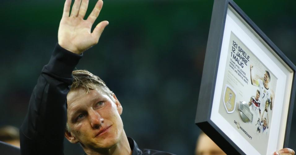 Schweinsteiger se despede da seleção da Alemanha