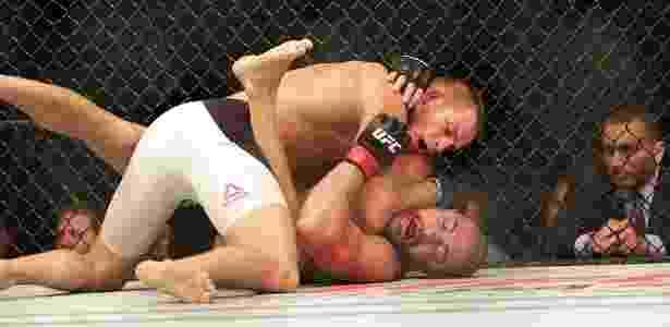 Thales Leites foi facilmente dominado pelo adversário polonês - Cleber Yamaguchi/Ag. Fight - Cleber Yamaguchi/Ag. Fight