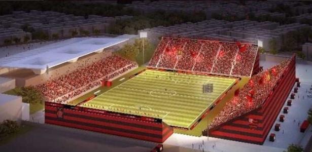 Projeto do Flamengo para a Arena na Ilha do Governador. Casa rubro-negra por três anos