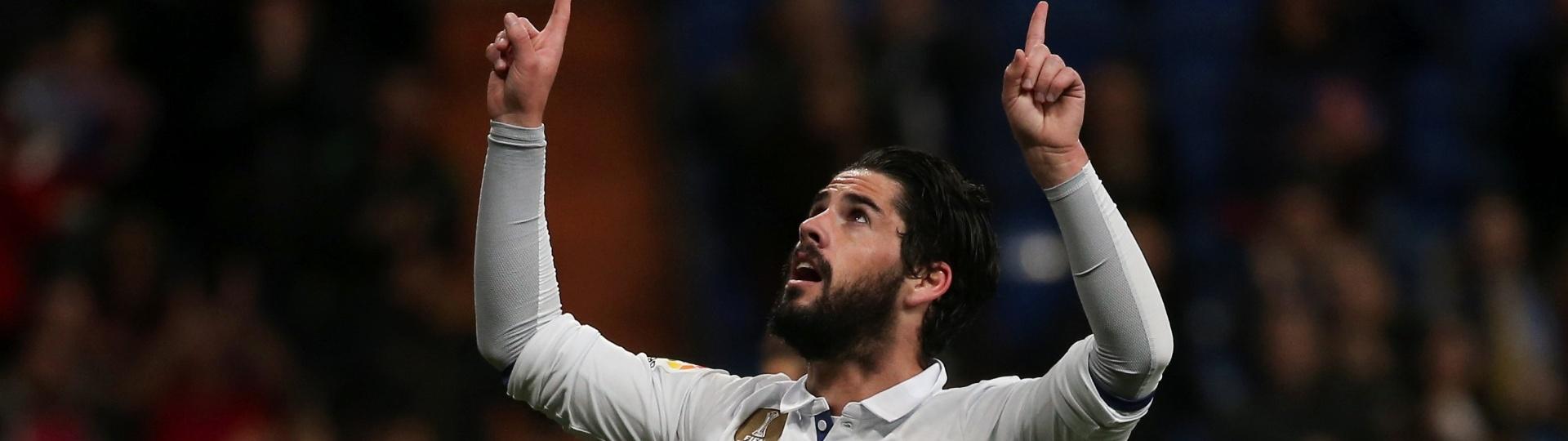 Isco Alarcon abre o placar para o Real Madrid diante do Las Palmas