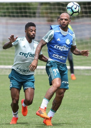 Felipe Melo e Michel Bastos treinaram no CT do Bahia nesta quinta-feira