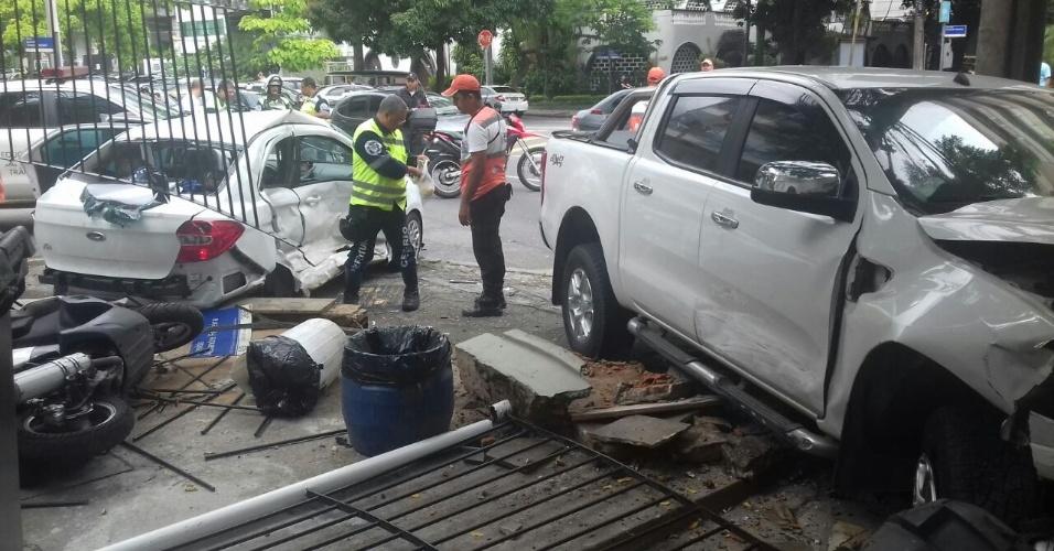 Acidente em frente à sede náutica do Vasco