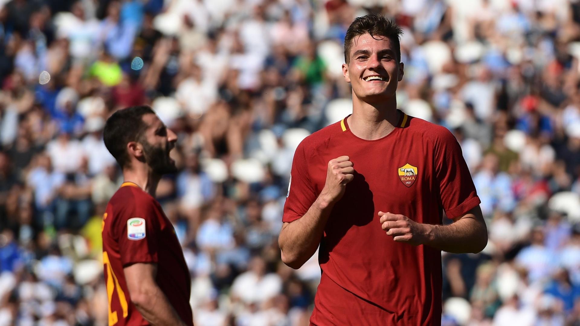 Patrik Schick comemora gol na vitória sobre o Spal