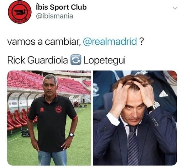 íbis tira sarro de Lopetegui após goleada do Barcelona sobre o Real