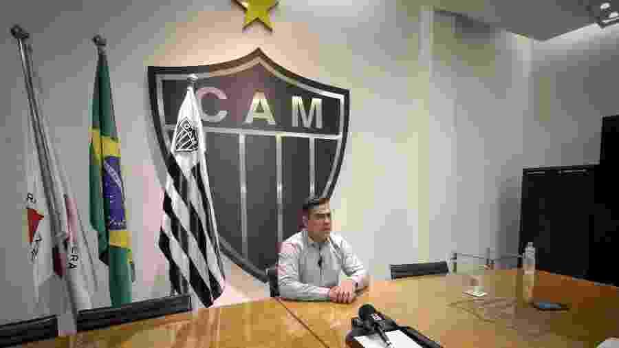 Sérgio Sette Câmara, presidente do Atlético-MG, explica empréstimos contraídos com a família Menin - Bruno Cantini/Divulgação/Atlético-MG