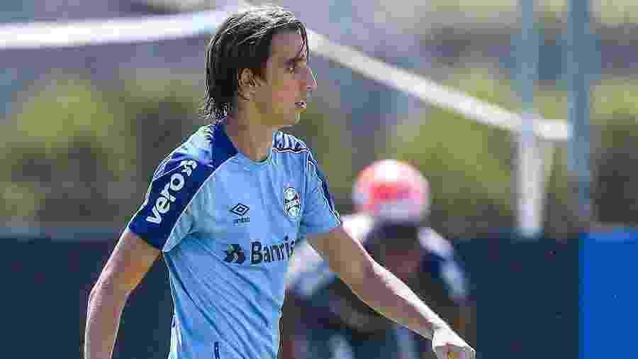 Pedro Geromel não participou da segunda parte do treinamento do Grêmio de hoje - Lucas Uebel/Grêmio