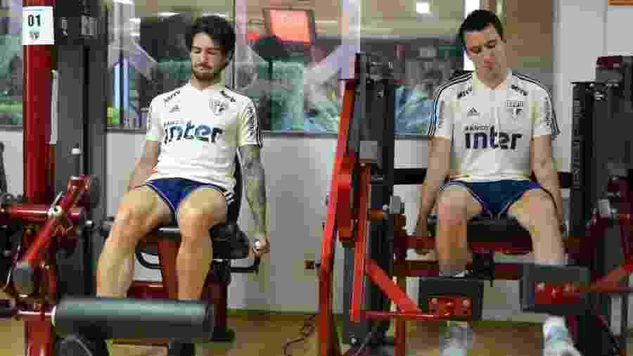 Alexandre Pato e Pablo, atacantes do São Paulo - Érico Leonan/saopaulofc.net