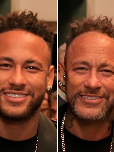 """Neymar foi mais um a usar o """"filtro do idoso"""" - Reprodução"""