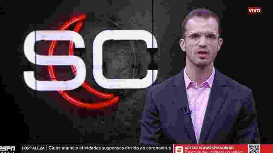 Jornalista André Kfouri anuncia medida da ESPN em prevenção à pandemia do coronavírus - Reprodução