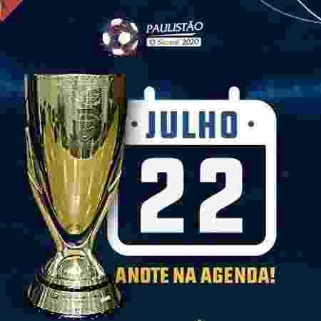 Logo da FPF para volta do Paulistão - FPF