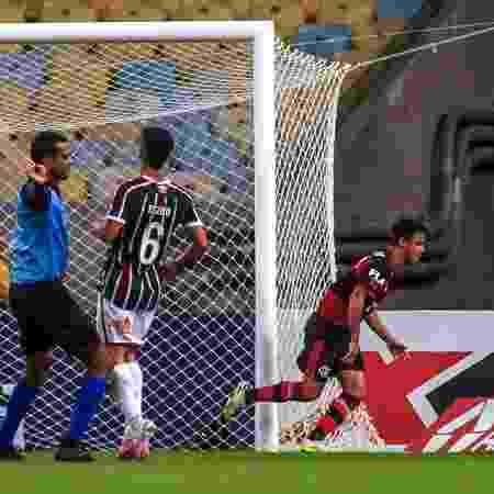 Michael comemora gol da vitória do Flamengo, pela primeira partida da final do Carioca 2020  - Maga Jr/O Fotográfico/Estadão COnteúdo