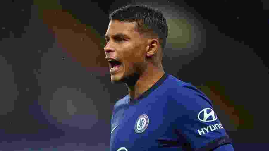 Thiago Silva, em estreia pelo Chelsea contra o Barnsley, pela Copa da Liga Inglesa - Chris Lee - Chelsea FC/Chelsea FC via Getty Images