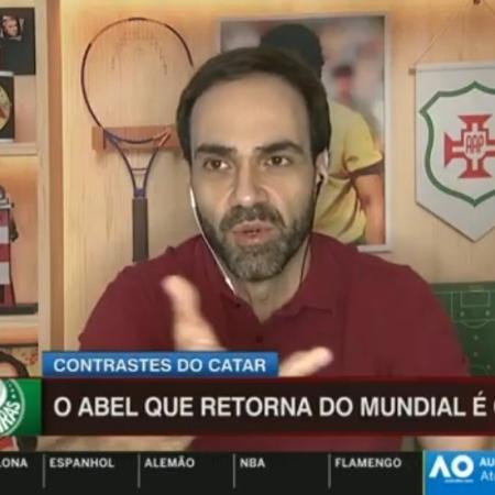 """William Tavares critica Abel Ferreira por """"celebrar"""" quarto lugar no Mundial de Clubes - Reprodução/ESPN"""