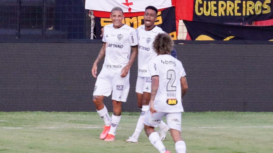 Guilherme Arana comemora gol do Atlético-MG contra o Sport - Rafael Vieira/Rafael Vieira/AGIF