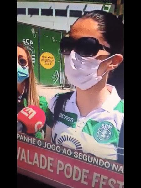 Torcedora do Sporting deu resposta inusitada ao ser questionada sobre título - Reprodução