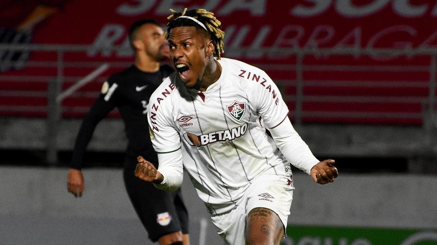 Abel celebra gol do Fluminense sobre o Red Bull Bragantino, pelo Brasileiro - Mailson Santana / Fluminense FC
