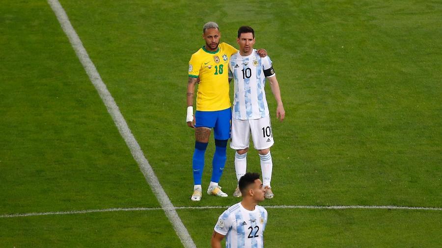 Neymar e Messi foram escolhidos para a seleção da Copa América - Wagner Meier/Getty Images