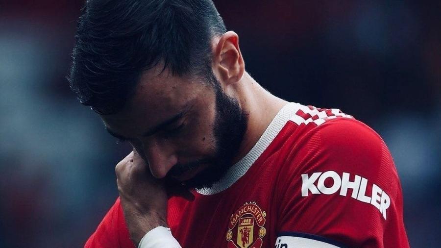 Bruno Fernandes recebe apoio de CR7 após perder pênalti pelo United - Reprodução/Instagram