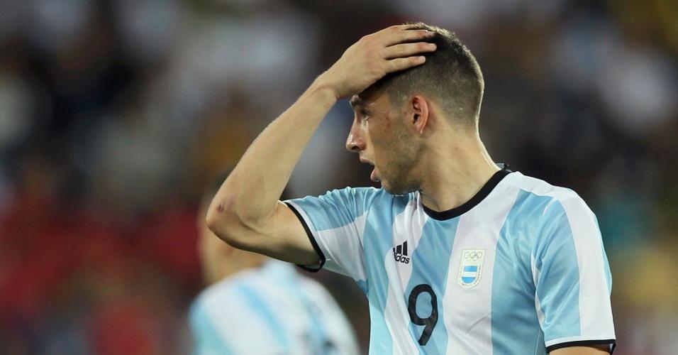 Calleri lamenta chance perdida na estreia da seleção argentina pela Olimpíada