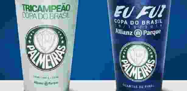 Pela primeira vez, torcedores compraram copos comemorativos em uma partida palmeirense - Reprodução