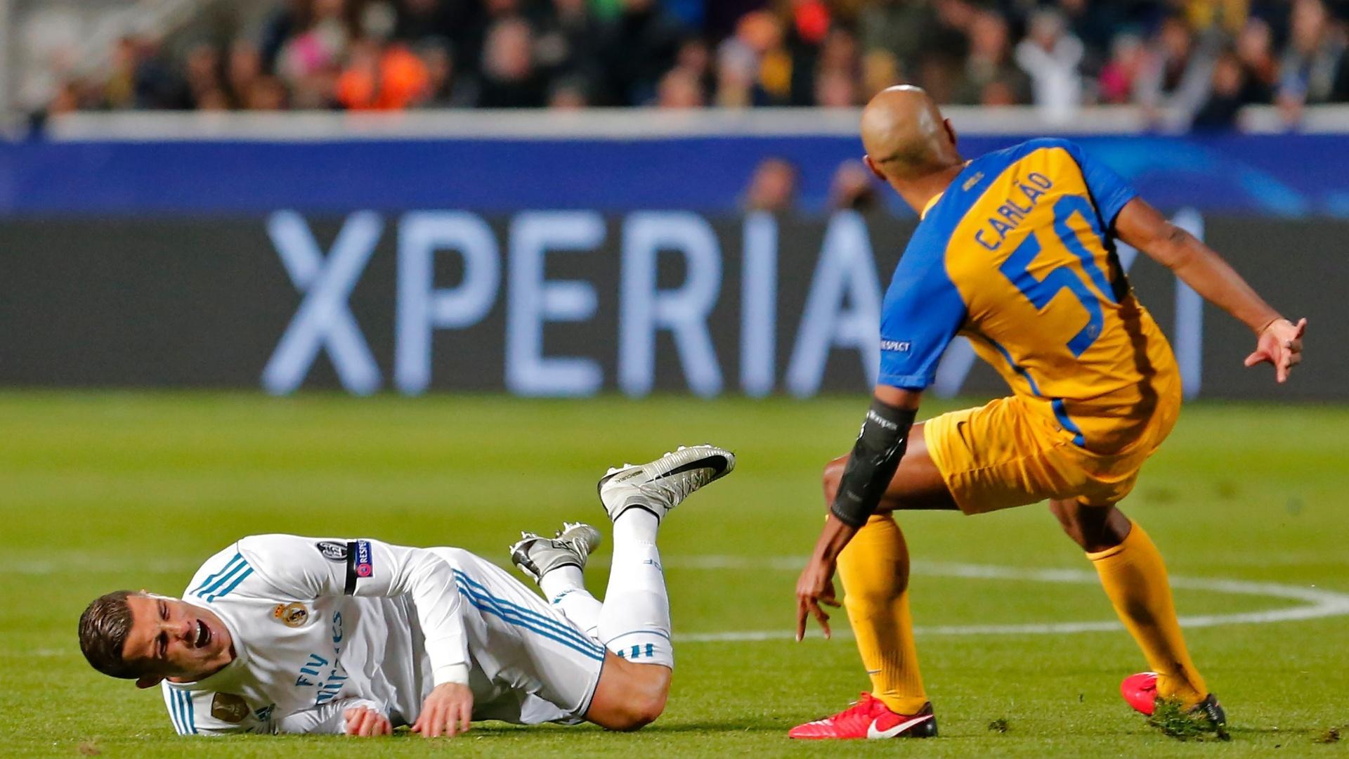 Carlão faz falta em Cristiano Ronaldo no duelo entre Apoel e Real Madrid