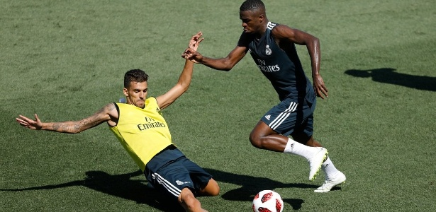 Vinicius Jr durante treino do Real Madrid - Real Madrid/oficial