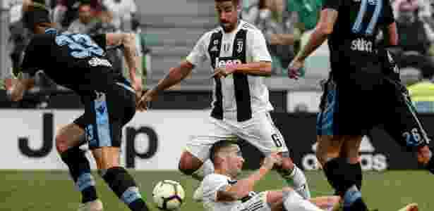 Cristiano Ronaldo durante a partida contra a Lazio - Filippo Monteforte/AFP - Filippo Monteforte/AFP