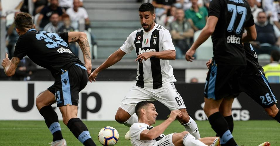 Cristiano Ronaldo durante a partida contra a Lazio