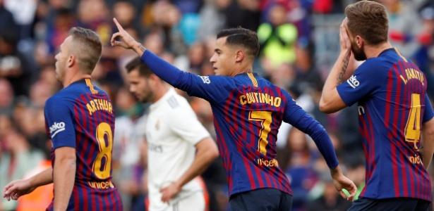 O Barcelona contratou Philippe Coutinho, que era do Liverpool, em janeiro deste ano - Albert Gea/Reuters