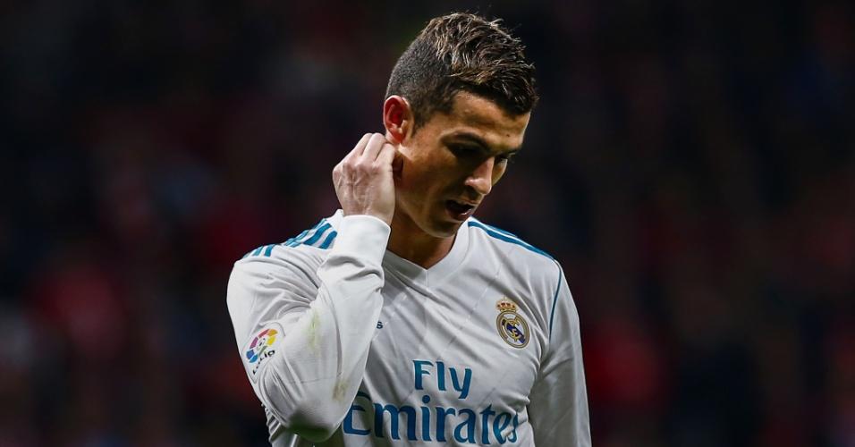 Cristiano Ronaldo durante as semifinais da Liga dos Campeões 17-18